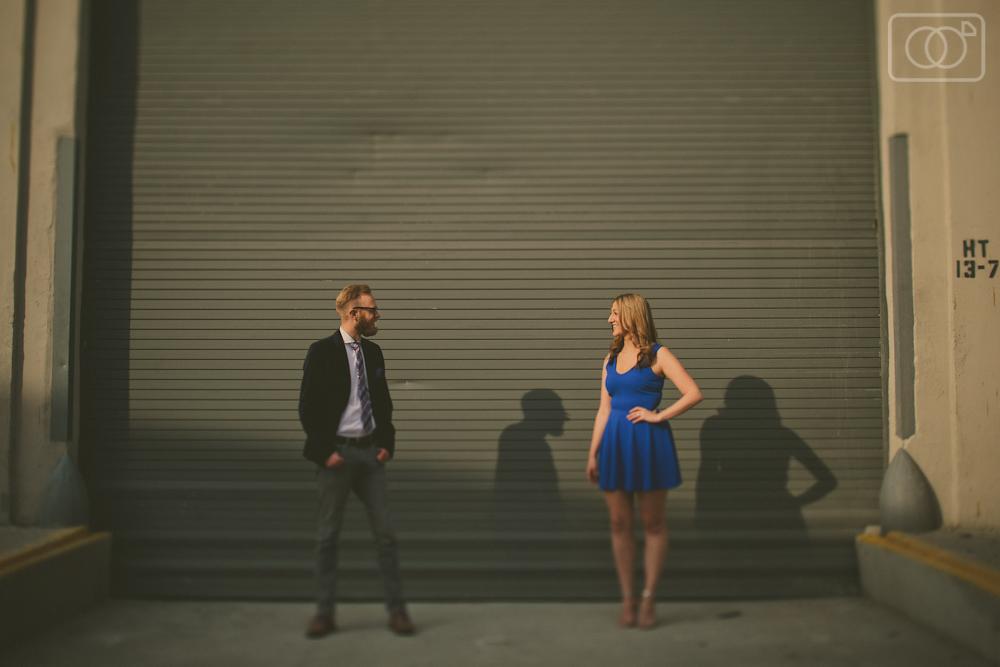 David and Alaina: Engagement Photos, Portraits, Arts District, LA, CA