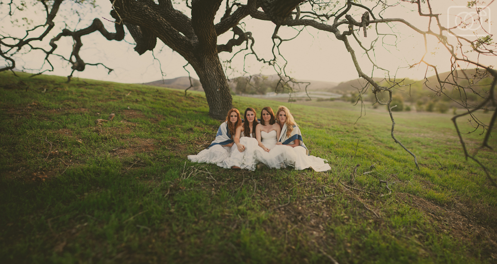 When four roommates all become brides: bridemates - Thousand Oaks, CA, Bridal Portraits