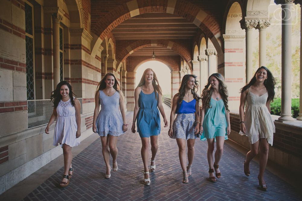 Six UCLA Grads-to-be - Senior Portraits, Los Angeles, CA