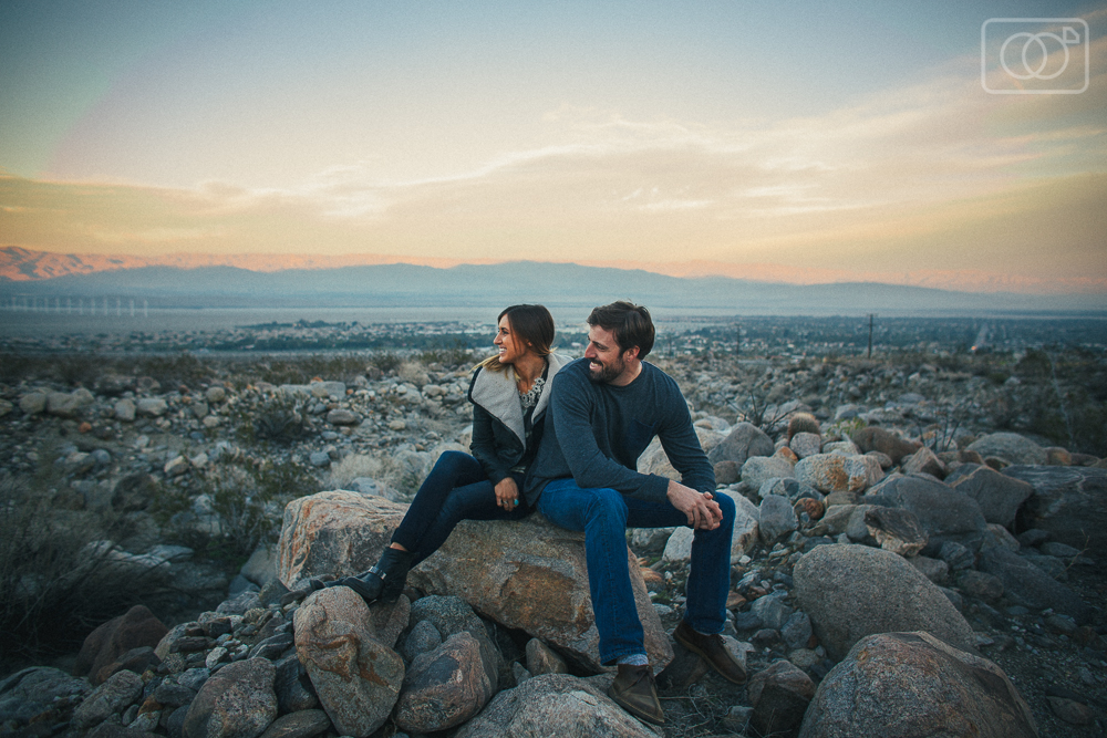 Ryan and Amanda - Engagement Photos, Ace Hotel, Palm Springs, Botanical gardens