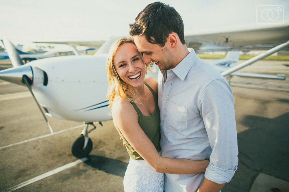 Randy and Allie: Engagement Photos, Fullerton Airport, Cessna, Flying, Catalina Island